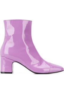 Carel Ankle Boot Sucette Com Salto 65Mm - Roxo