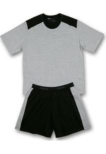 Conj. Pijama Cotton Curto Preto P