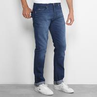 c8d5502adc17c Calça Jeans Slim Lacoste Fit Masculina - Masculino-Azul Escuro
