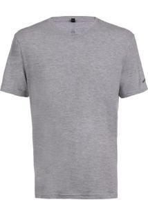Camiseta John John Rg V Basic Mescla Malha Cinza Masculina (Cinza Mescla Claro, P)