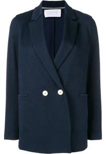 Harris Wharf London Blazer Com Abotoamento Duplo - Azul