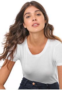 Camiseta Gap Lisa Branca - Branco - Feminino - Algodã£O - Dafiti