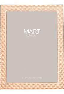 Porta Retrato Com Recorte- Ros㪠Gold- Tamanho Da Fotmart