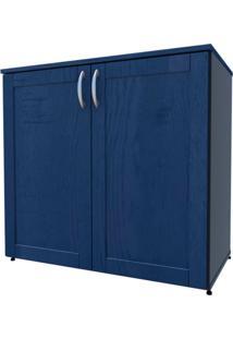 Armário De Escritório Oma 2 Pt Preto E Azul