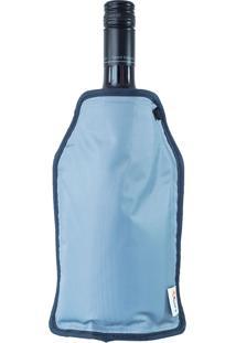 Capa Térmica Congelável Para Garrafas Azul - Oikos