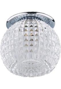Spot Embutir Redondo Cristal 7,5Cmx9Cm 40W G9 Bella Iluminação Caixa Com 2 Unidade Cromado Bivolt