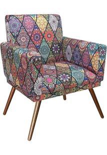 Poltrona Decorativa Nina Rodapé Suede Mosaico Preto - Ds Móveis - Kanui
