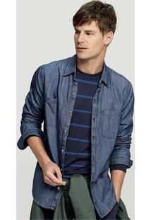 Camisa Jeans Masculina Hering Na Modelagem Slim