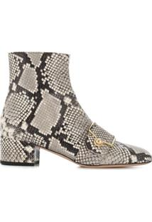Bally Ankle Boot Python - Cinza