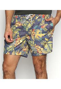 Shorts Jab Tropical Masculino - Masculino-Marinho