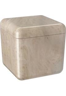 Porta-Algodão Cube Bege