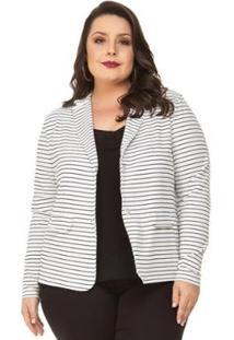 821f944e49 Blazer Branco Plus Size feminino