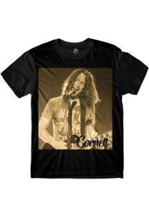 Camiseta Bsc Astros Do Rock Chris Cornell Sublimada Masculina - Masculino-Preto