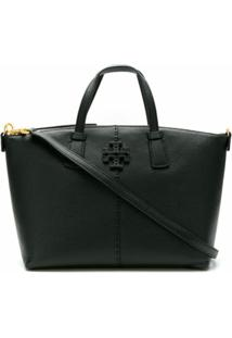 Tory Burch Bolsa Tiracolo Mcgraw Top-Zip - Preto