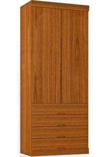 Guarda-Roupa 2 Portas Com Espelho Interno, Nogueira, Ruana