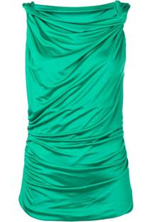 Pinko Draped Sleeveless Blouse - Verde