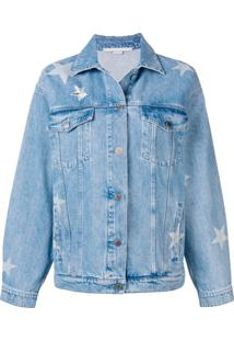 Stella Mccartney Jaqueta Jeans Estampada - Azul