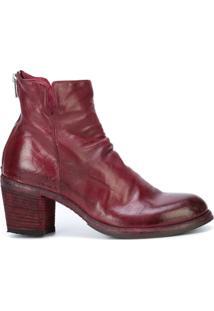Officine Creative Ankle Boot 'Agnes' De Couro - Vermelho