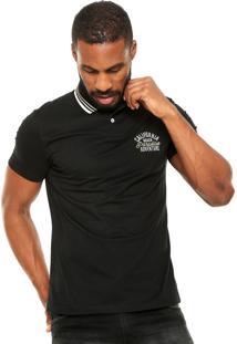 Camisa Polo Malwee Textura Preta