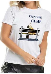 Camiseta Frenchie Gump Buddies Feminina - Feminino-Branco