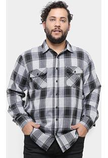Camisa Delkor Manga Longa Xadrez Plus Size Masculina - Masculino