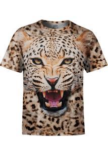 Camiseta Estampada Over Fame Onça