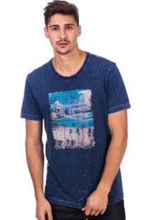 Camiseta Long Island Trade - Masculino-Azul