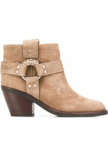 See By Chloé Ankle Boot Cowboy - Neutro