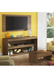 Rack Com Painel Para Tv Até 55 Polegadas E Mesa De Centro Madesa Flórida