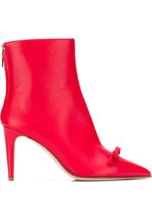 Red Valentino Red(V) Sandie Ankle Boots - Vermelho