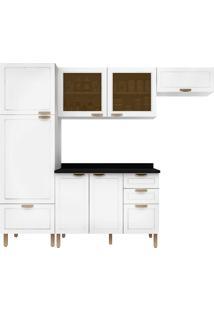 Cozinha Modulada 5 Peças Com Tampo E Nevada 5688Vdtp-Multimóveis - Branco Premium