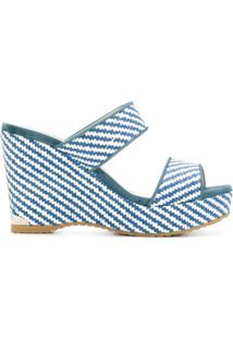 Jimmy Choo Sandália Plataforma 'Parker' - Azul