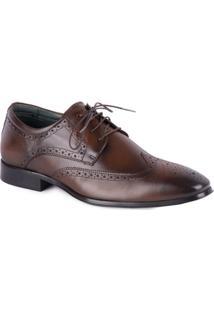 Sapato Jota Pe Social Com Recortes Brown - Masculino-Marrom Escuro