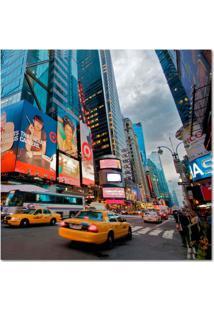 Quadro Impressão Digital Nova York Colorido 45X45 Uniart