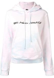 Mm6 Maison Margiela Blusa De Moletom Tie-Dye Com Logo - Rosa