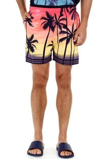 Shorts Tropical Masculino Ocean Bay - Estampado