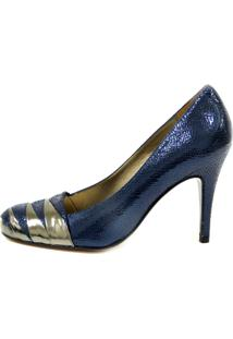 Sapato Bianti Fechado Azul