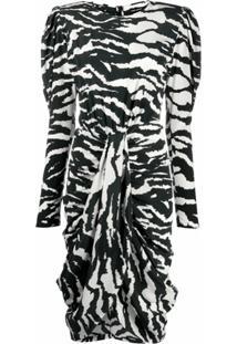 Isabel Marant Frera Zebra Print Dress - Branco