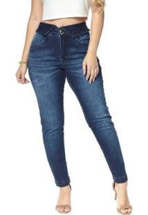 Calça Jeans Cigarrete Denuncia Skinny Lille 206324167 Azul 44 - Feminino