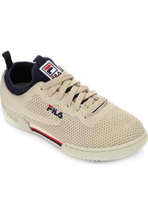 Tênis Fila Original Fitness 2.0 Knit Masculino I - Masculino-Bege+Marinho