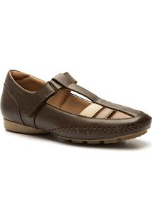 Sapato Feminino 2800 Em Couro Doctor Shoes - Feminino-Café