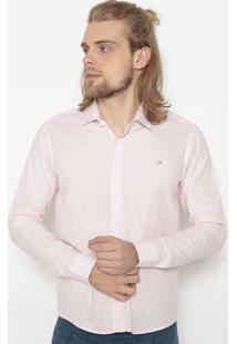 Camisa Slim Fit Xadrez- Rosa & Brancaogochi