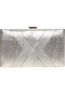 Clutch Metalizada Entrelace
