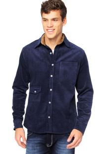 Camisa Manga Longa West Coast 61618 Azul