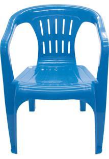 Cadeira De Plástico Atalaia Tramontina 92210070 Basic Azul