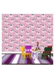Papel De Parede Adesivo - Zebras - Infantil - Rosa - 182Ppi