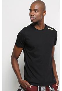 Camiseta T-Shirt Acostamento Básica Masculina - Masculino-Preto