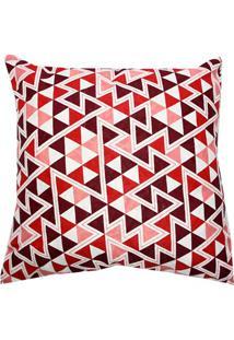 Capa Para Almofada Triângulos 43X43Cm Vermelha