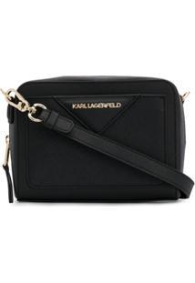 Karl Lagerfeld Bolsa Klassik Camera - Preto