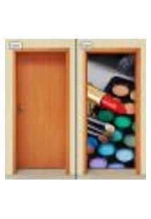 Adesivo Decorativo De Porta - Salão De Beleza - Maquiagem - 1039Cnpt